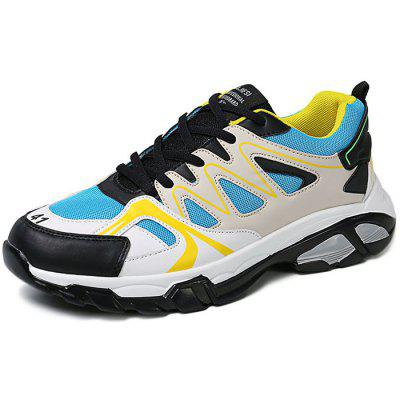 Stylish Youthful Lace-up Sports Shoes Men Sneakers