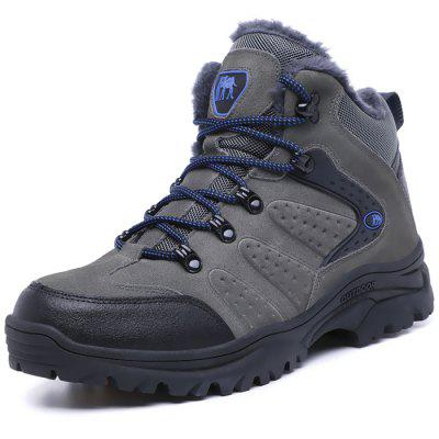 Men Outdoor Warm Anti-slip Shock-absorbing Hiking Shoes