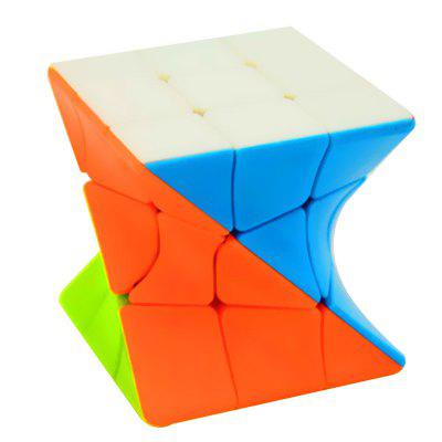 3 x 3 x 3 Twisty Magic Cube Stickerless Rompecabezas Juguetes