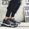 Stylish Youthful Lace-up Sports Shoes Men Sneakers - BLACK