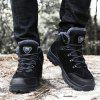 Men Outdoor Warm Anti-slip Shock-absorbing Hiking Shoes - BLACK