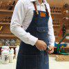 Fashion Cowboy Home Work Apron - DARK SLATE BLUE