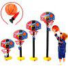 Outdoor Basketball Hoop with Adjustable Height - BLACK