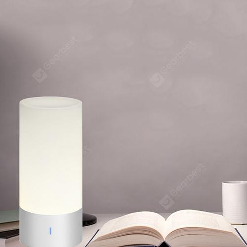 Touch Sensor Dimmable RGBW Bluetooth Speaker Bedside Lamp - WHITE