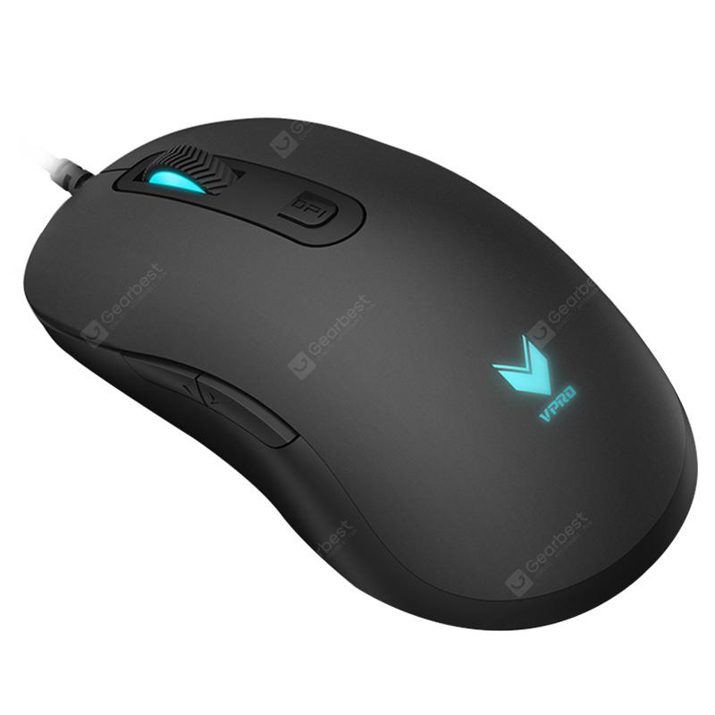 Rapoo V22 USB Wired Gaming Mouse with Breathing Light - BLACK
