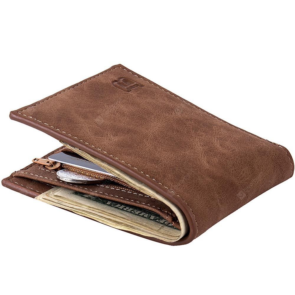 Men Fashion Leisure Business Leather Bifold Wallet
