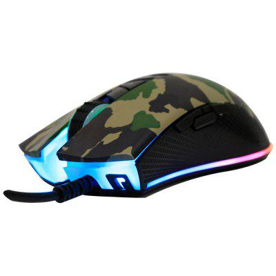 TEAMWOLF AT406 USB Wired Optical Gaming Mouse Macro Program RGB Backlight