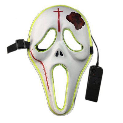 EL Cold Light Ghost Design Light-emitting Mask