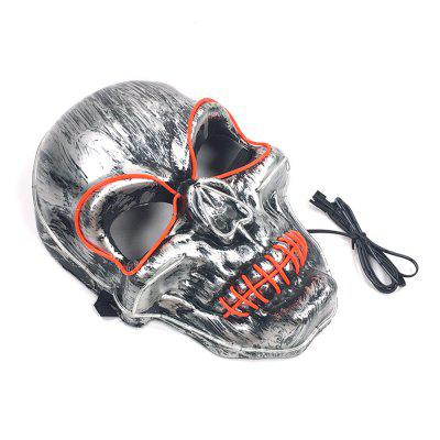 EL Cold Light Line Skull Luminous Mask