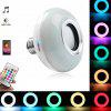 BRELONG Colorful Luminous Smart Bluetooth Music Bulb for Stage - WHITE