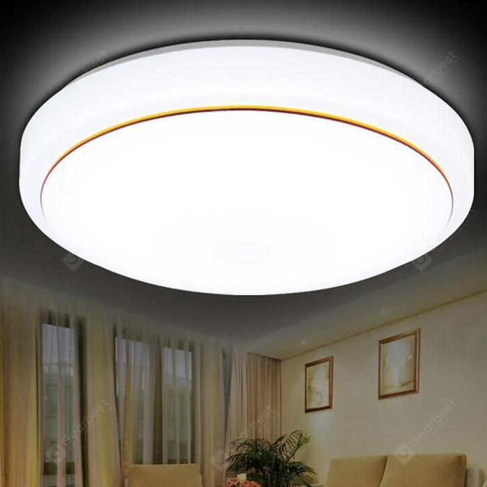 Simple Round Shape LED Ceiling Light - WHITE