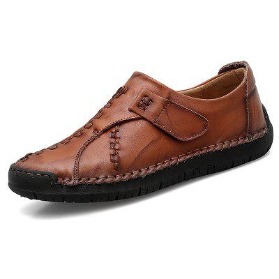 Men Trendy Soft Slip-on Leather Casual Shoes
