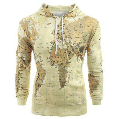 Stylish world map print drawstring hoodie for men 2063 free stylish world map print drawstring hoodie for men gumiabroncs Gallery