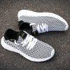 Mesh Breathable Sports Shoes Sneakers for Men - BLACK