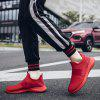 Men Outdoor Breathable Shock-absorbing Slip-on Sneakers - RUBY RED