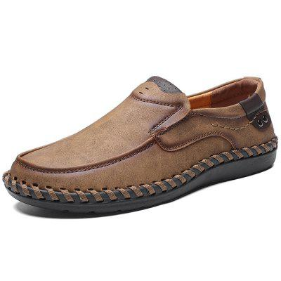 Microfiber Leather Casual Flat Shoes for Men