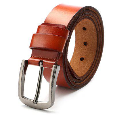 Retro Pin Buckle Leather Belt for Man