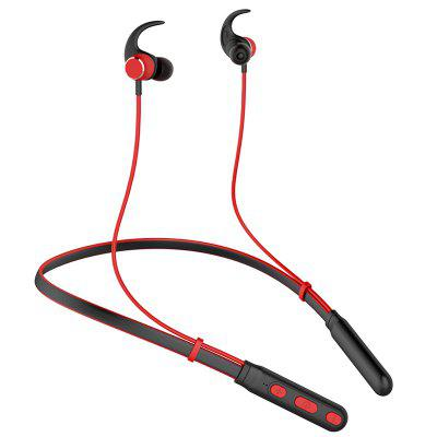 TH - H01 Neckband Sports Wireless Earphone Magnetic Absorption Stereo Bluetooth Earbuds with Mic - Red/Black