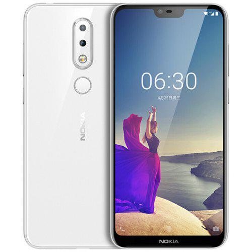 Gearbest NOKIA X6 5.8 inch 4G Phablet International Version - WHITE 6GB RAM 64GB ROM 16.0MP + 5.0MP Rear Camera Fingerprint Sensor