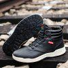 Trendy Warm High Top Slip-on Boots for Men - BLACK