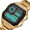 PANARS 8113 Outdoor Sports Waterproof LED Watch for Man - GOLD