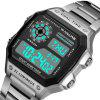PANARS 8113 Outdoor Sports Waterproof LED Watch for Man - SILVER
