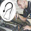 Steel Steel-cylinder Stethoscope for Machinery - BLACK
