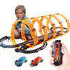Electric RC Rail Car Racing Toy Set - NARANJA