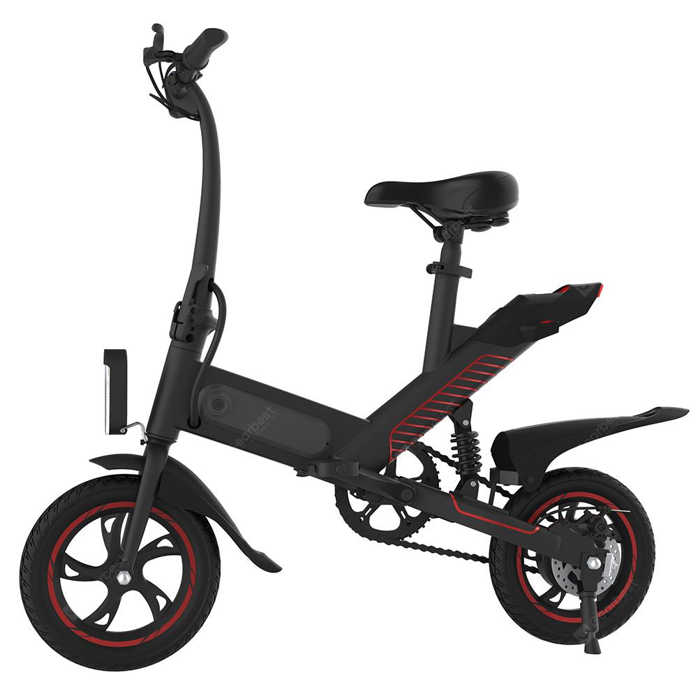 GUANGYA Y1 Outdoor 6Ah Batteri Smart Folding Electric Bike - BLACK