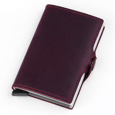 Fashionable Simple Solid Color Leather Wallet