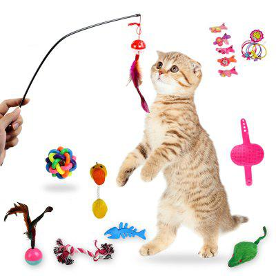 Funny Cat Molare Sound Teasing Interactive Toy 18pcs