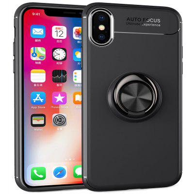 Buckle Ring Stand Phone Case for iPhone X