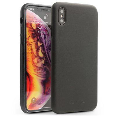 QIALINO Leather Phone Back Cover Case for iPhone XS