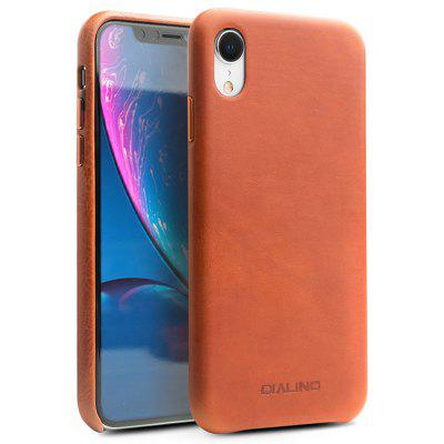 QIALINO Leather Phone Back Case for iPhone XR