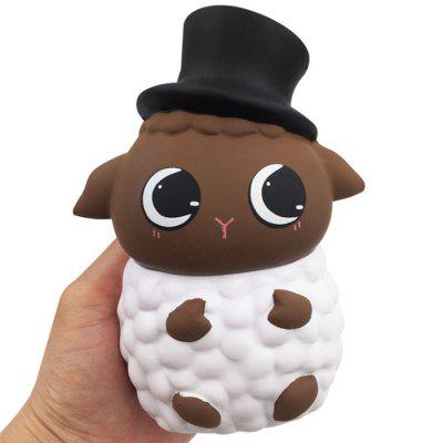 Novo PU Rebote Lento Chapéu Alto Sheep Squishy Toy