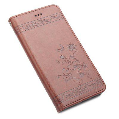 Estampado de flores en relieve Flip Wallet Holder Case para Xiaomi Redmi 4 Pro