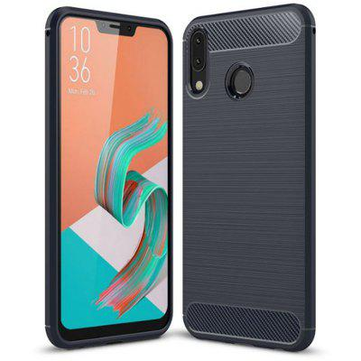 Naxtop Carbon Fiber Brushed Soft TPU Phone Case for ASUS Zenfone 5 ZE620KL