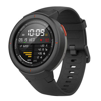 Gearbest Xiaomi Amazfit 1.3 inch Smart Watch - CARBON GRAY Bluetooth 4.0 Call / Message Reminder Heart Rate Monitor Functions