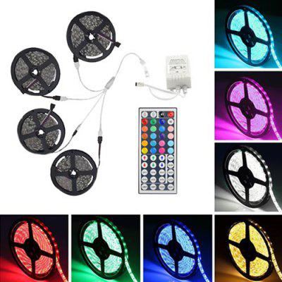 Supli 20M 5050 RGB 600-LED Strip Flexibele Tape String Lights Niet Waterproof DC 12V met 44 KEY IR Remote Controller Kit