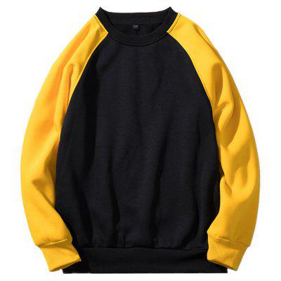 Round Collar Raglan Sleeve Sweatshirt for Men
