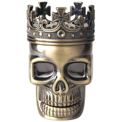 Classic Skull Metal Tobacco Herb Spice Grinder 3 Layers Crusher Hand Muller