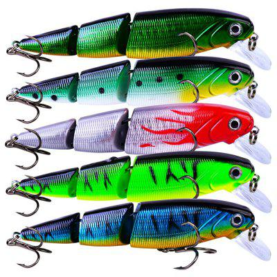 PRO BEROS Outdoor Portable Artificial Lure Multi-section Fishing Bait 5pcs