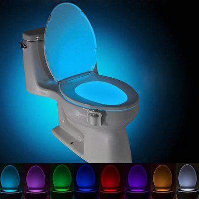 BRELOBG 8 cores de sensor de movimento humano PIR Toilet Night Light