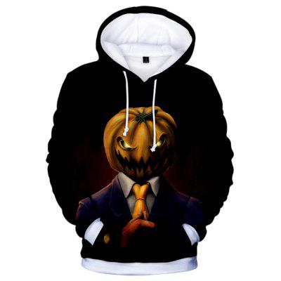 Trendy Halloween Sweat à capuche à manches longues imprimé 3D