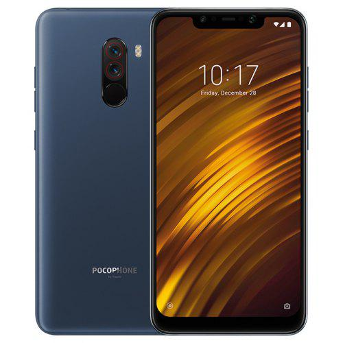 Gearbest Xiaomi Pocophone F1 4G Phablet Global Version 6GB RAM - SLATE BLUE 64GB ROM 20.0MP Front Camera Fingerprint Sensor