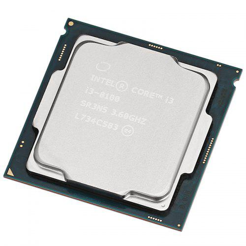 Intel Core i3-8100 CPU Quad Core 4 thread / 3.6 GHz / LGA 1151/6 MB L3 Cache