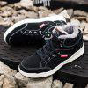 Men Stylish Outdoor Warm Anti-slip Lace-up Boots - BLACK
