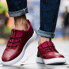 Autumn New Breathable Leisure PU Casual Shoes for Man - RED