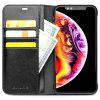 QIALINO Flip Leather Protective Phone Case for iPhone XS Max - BLACK