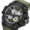 PANARS 8010 Male Digital Watch with Plastic Band - ARMY GREEN